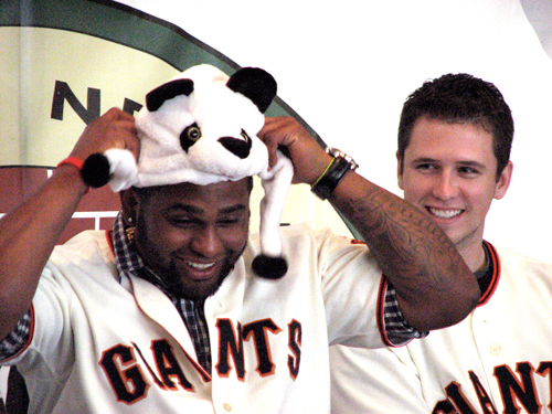 Clowning around with a panda hat at February's Fanfest